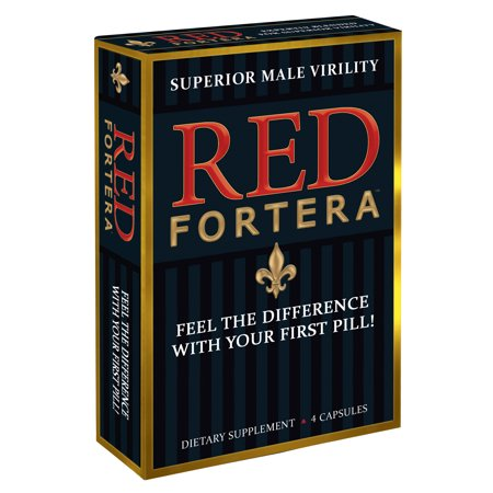 Red Fortera Superior Male Virility  Male Enhancement  4 Count