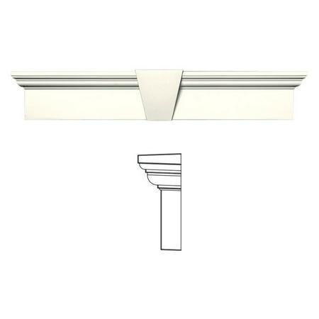 Exterior Window Moulding (Builders Edge 6H in. Flat Panel Window Header with Keystone)