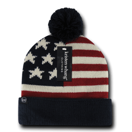 DECKY American Flag Design Beanie Star Stripes Perfect Cap, Style H004