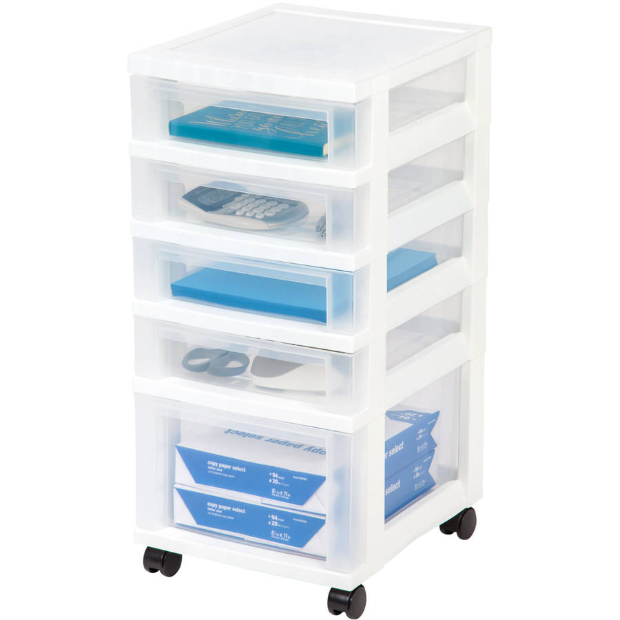 Iris  Drawer Rolling Storage Cart White