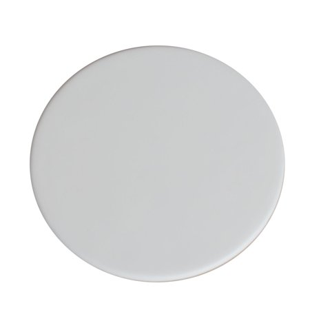 Dacasso Classic White Leatherette Round Coaster