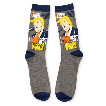 Donald Trump Socks | I Have Best Words And I Know Words Crew Sock
