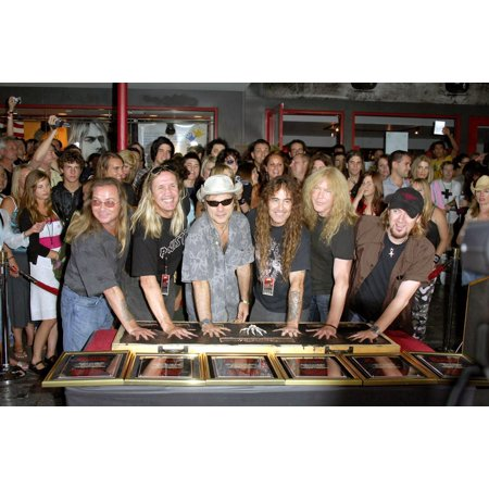 Dave Murray Nicko Mcbrain Bruce Dickinson Steve Harris Janick Gers And Adrian Smith At The Induction Ceremony For Hollywood Rockwalk Induction Of Iron Maiden The Guitar Center Hollywood Los Angeles Ca