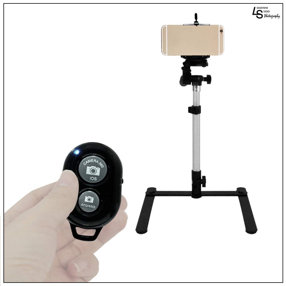 "Loadstone Studio 18"" Table Top Travel Tilt Tripod DSLR Camera Video Stand with Cellphone Holder and Bluetooth Remote Shutter, WMLS1661"