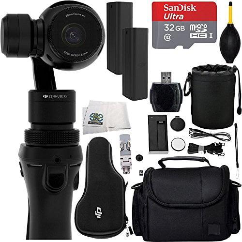 DJI Osmo Handheld 4K Camera and 3-Axis Gimbal 32GB Bundle...