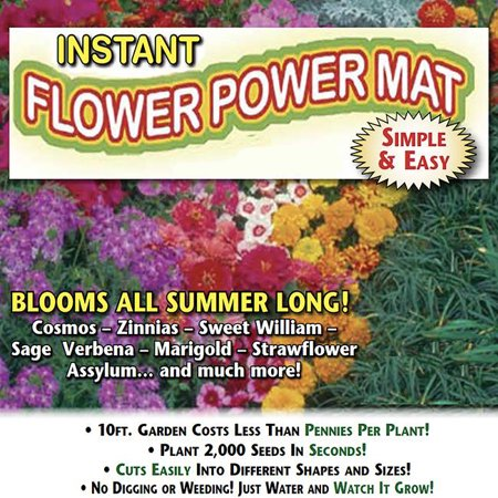 Roll and Grow Flowering Border Mat-Flower Power -  (8 sq. ft.)