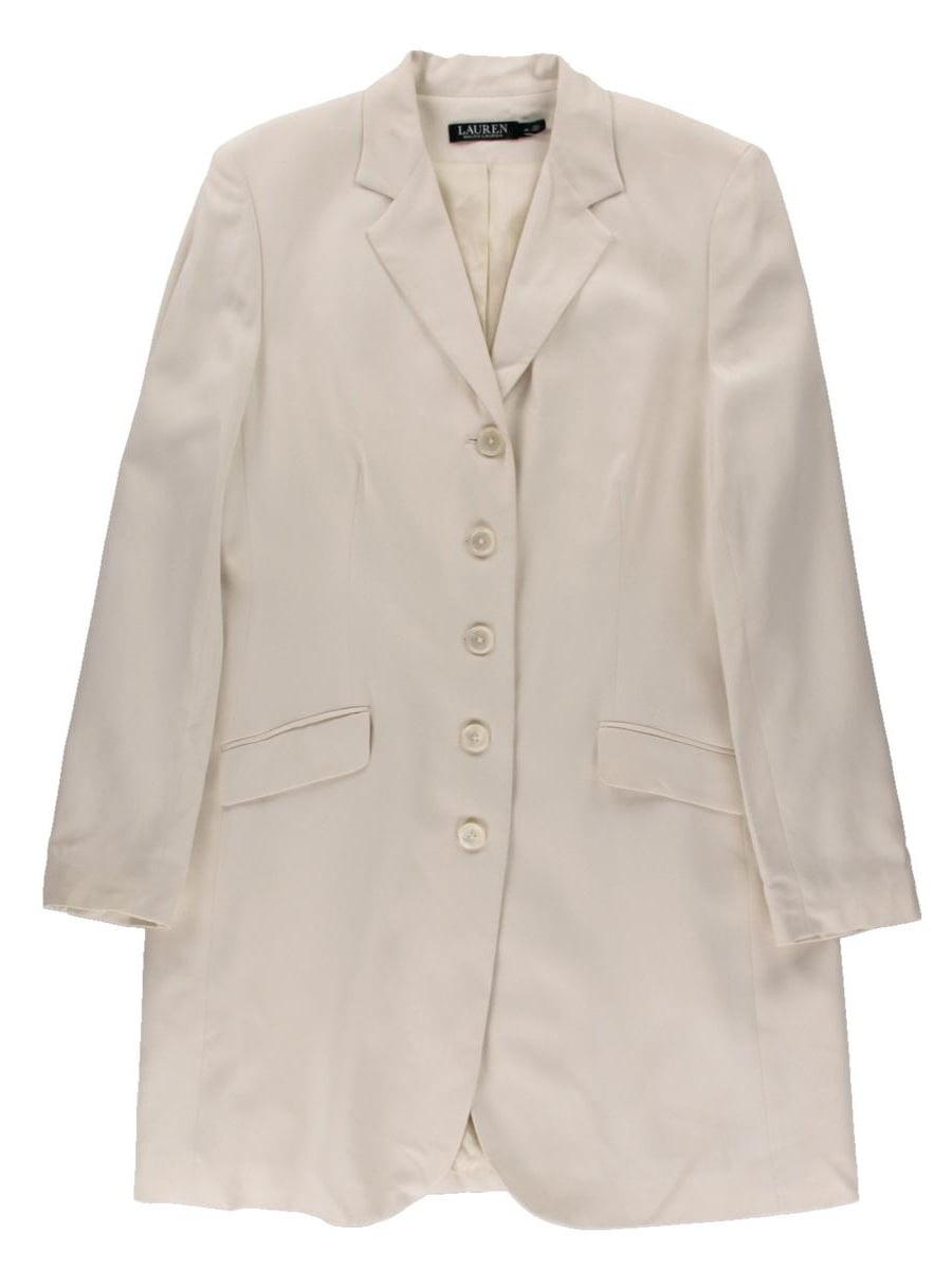 Lauren Ralph Lauren Womens Silk Poplin Coat