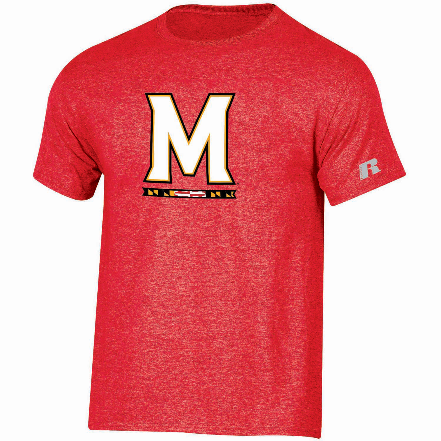 Maryland Terrapins Russell Youth Oversized Graphic Crew Neck T-Shirt - Red