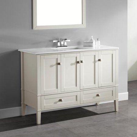Wyndenhall Windham Soft White 48 Inch 2 Door Drawer Bath Vanity With