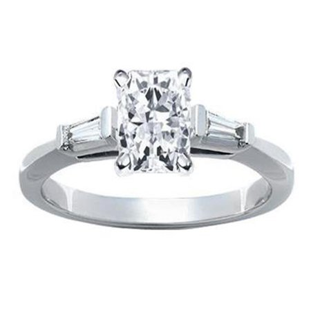 Harry Chad HC11906 1.61 CT Platinum Diamond Engagement Ring, Color F - VS1 & VVS1 Clarity