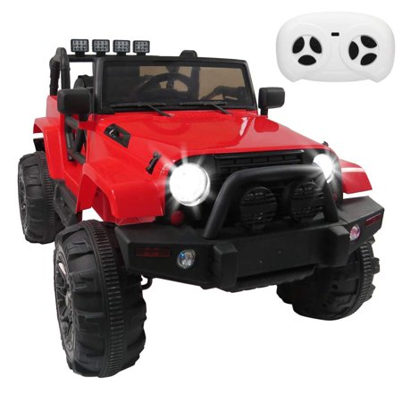 12V Kids Ride On Cars 3 Speeds SUV Electric Truck Cars Power Wheels RC Toy with Remote Control,MP3 aux,Spring Suspension,LED Headlights