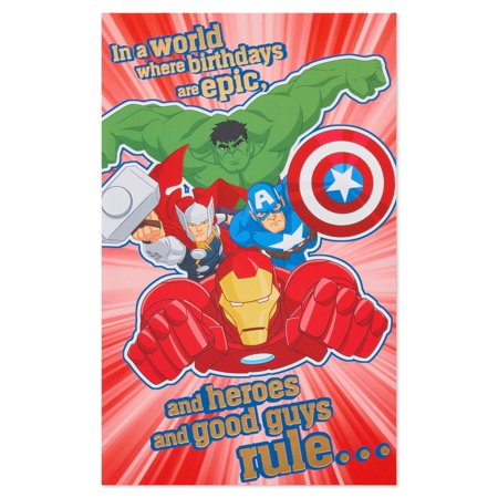 American Greetings Avengers Birthday Card For Boy With Foil