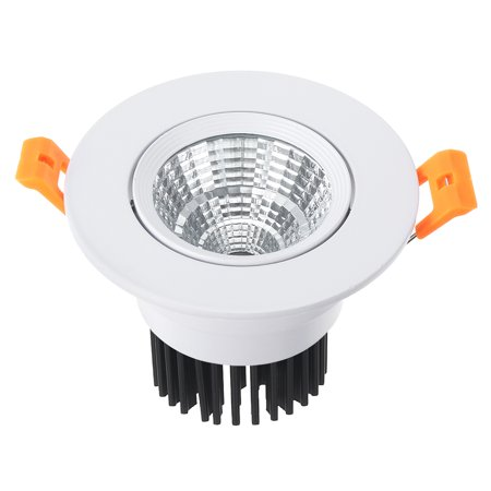 4pcs 90mm Dia. 7W COB Downlight Recessed Spotlight Lamp Shell White - image 1 de 5