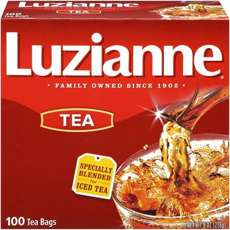 (6 Boxes) Luzianne Iced Tea, Black Tea, Tea Bags, 100 Ct