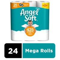 Angel Soft Toilet Paper, 24 Mega Rolls (= 96 Regular Rolls)