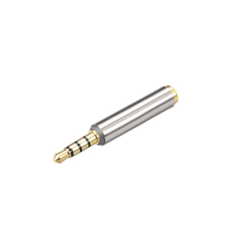 3.5mm Stereo 4 Poles Male to 3.5mm Female Adapter Converters Zinc Alloy 4 Pcs - image 2 of 4