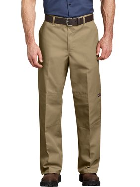 Genuine Dickies Men's Loose Fit Straight Leg Double-Knee Work Pants