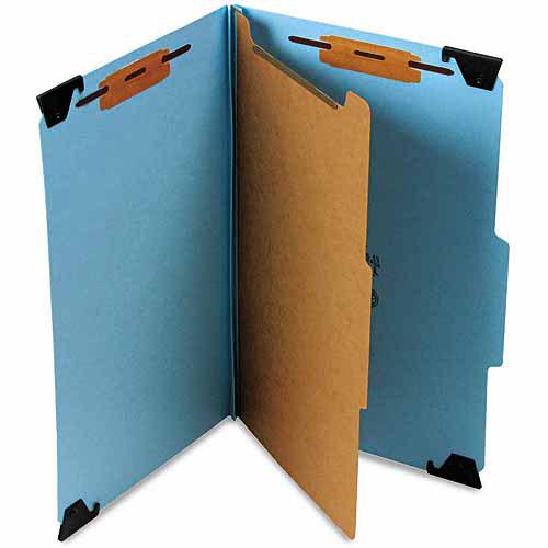 Smead Four Section Hanging Classification Folder, Pressboard/Kraft, Legal, Blue