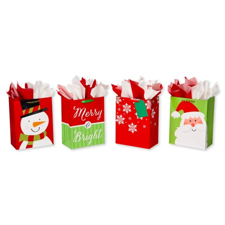 American Greetings Large Christmas Gift Bag and Tissue Paper Bundle, 4ct](Children's Gift Bags)