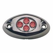 Innovative Lighting 004-4200-7 Courtesy Light - 4 LED Surface Mount - Red LED & Chrome Case