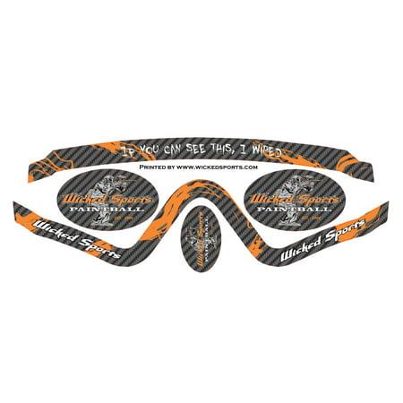 Wicked Sports Goggle Wrap - V-Force Profiler - WS Carbon Fiber (V-force Profiler Strap)