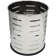 Witt Industries 66SS-SLP Executive Round Wastebasket With Slot Pattern - 4 Gallon
