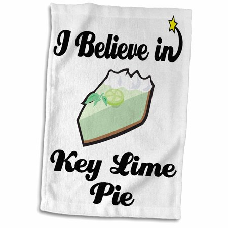 3dRose I Believe In Key Lime Pie - Towel, 15 by 22-inch - Key Lime Pie Slice
