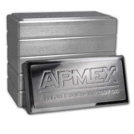 100 Oz Silver Bar Apmex Stackable Ira Approved