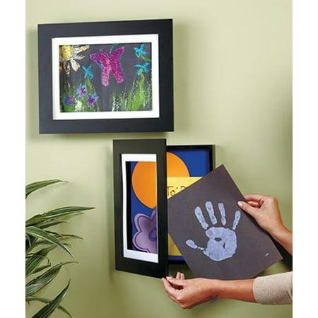 Easy Change Artwork Frame - Black - Fits 8.5 x 11 Artwork. Frame Measures 13.5 x 11 x 1 3/4
