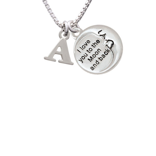"""Small Greek Letter - Alpha - To The Moon and Back Necklace, 18""""+2"""""""