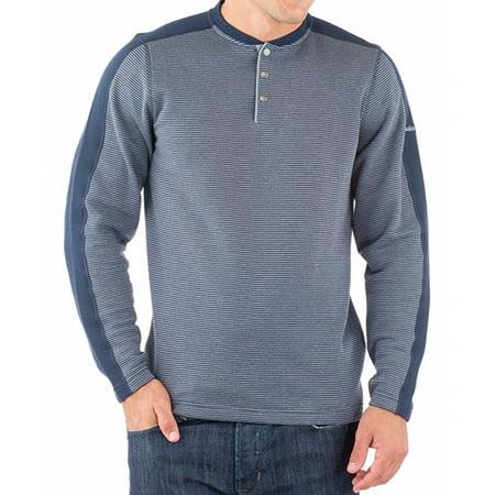 Avalanche Mens Size Medium Long Sleeve Jago Henley Shirt, Indigo
