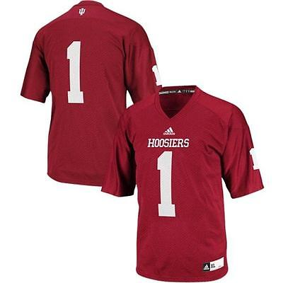 Indiana Hoosiers #1 NCAA Adidas Youth Red Premier Football Jersey