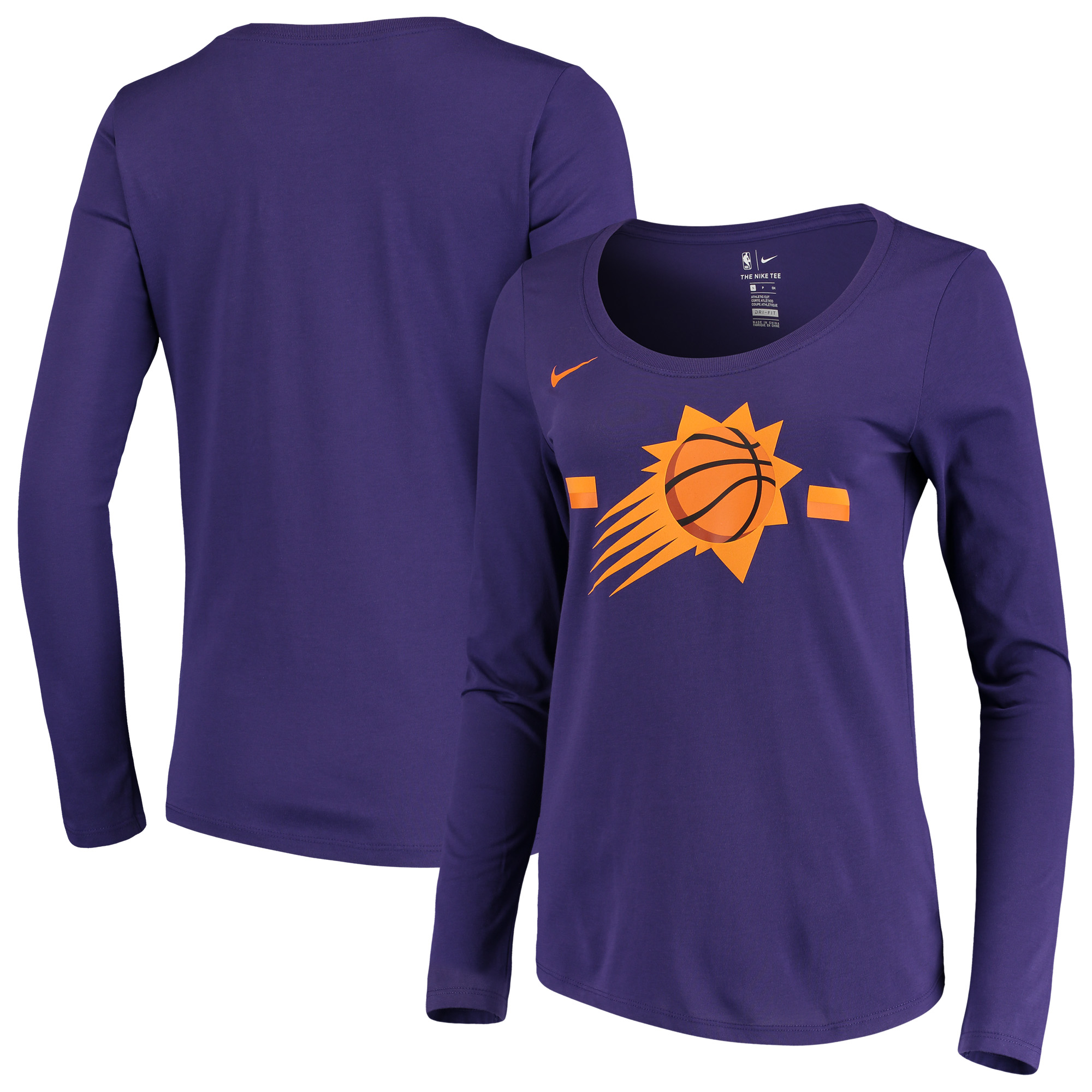 Phoenix Suns Nike Women's Essential Logo Performance Long Sleeve T-Shirt - Purple
