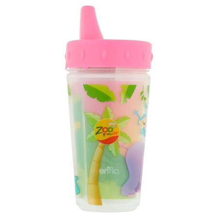 Evenflo Zoo Friends Insulated Sippy Cup  2 Pack  Girl  Bpa Free