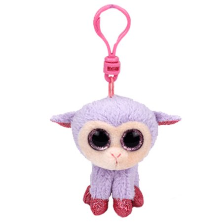 TY Basket Beanie Baby - LILLI the Lamb with Plastic Clip (3 inch)