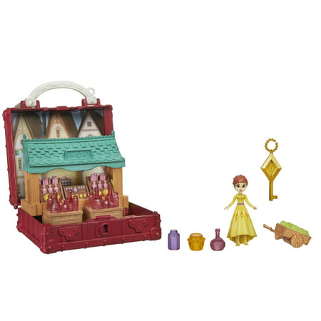 Disney Frozen 2 Portable Pop-up Village Playset, Anna Doll