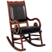 A Line Furniture Rimon Nail Head Trim Rocking Chair