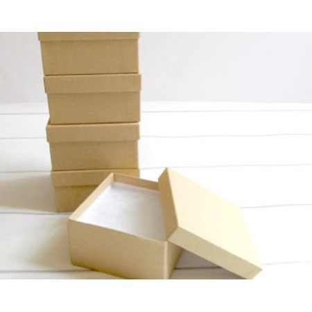 22 Small Gift Size 2 X 2 X 2 Inches 20 Pack Natural Kraft Jewelry Gift Favor Boxes