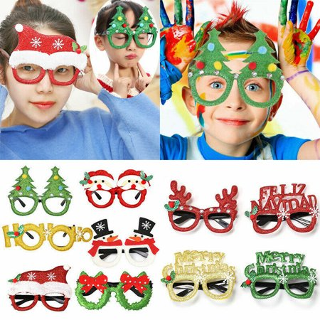 Christmas Party Favors Xmas Decoration Kids Children Santa Claus Adult Glasses Snowman Christmas Gift Toys ()
