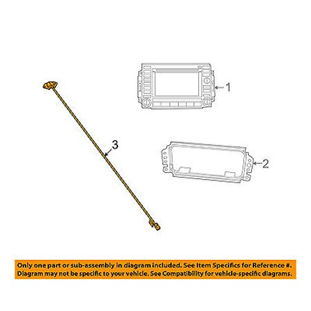CHRYSLER OEM Navigation System-Antenna 5064187AA (Chrysler Navigation Antenna)