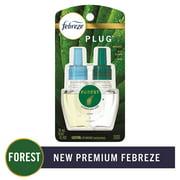 Febreze Odor-Eliminating PLUG Air Freshener Refill, Forest, 1 count