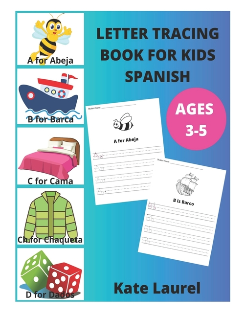 Letter Tracing Book For Kids Ages 3-5 Spanish : Alphabet Letter Tracing  Worksheets, Fun Alphabet Activities