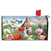 Home Sweet Birdhouse Spring Large Mailbox Cover Floral Oversized Briarwood Lane