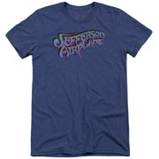 Jefferson Airplane Gradient Logo Mens Tri-Blend Short Sleeve Shirt