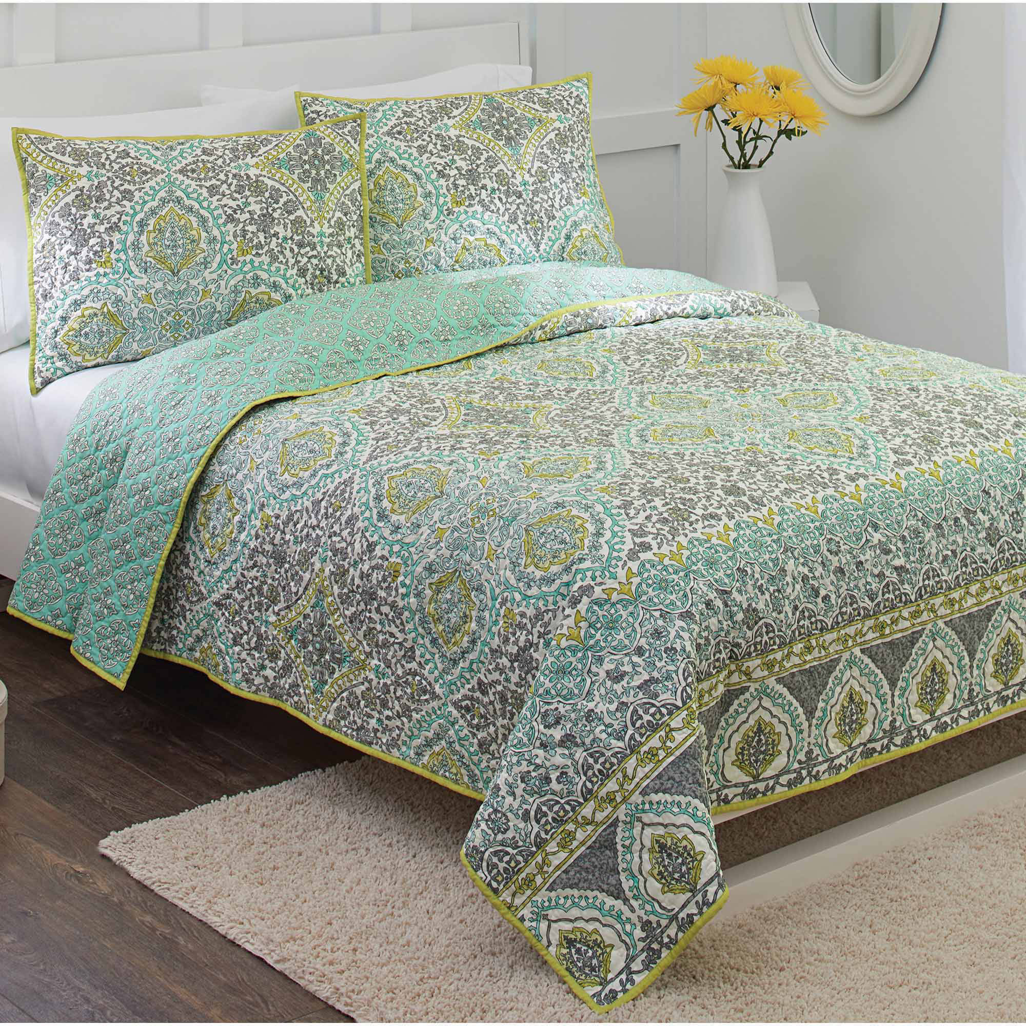 better homes and gardens arabesque quilt walmart com
