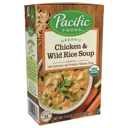 (2 Pack) Pacific Foods Organic Chicken and Wild Rice Soup,