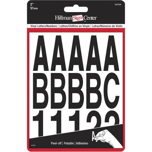 """Letters Numbers,2"""" Die Cut Blk"""