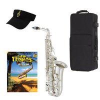 Latin Themes Silver Alto Saxophone Pack - Includes Alto Sax w/Case & Accessories, Latin Themes Play Along Book