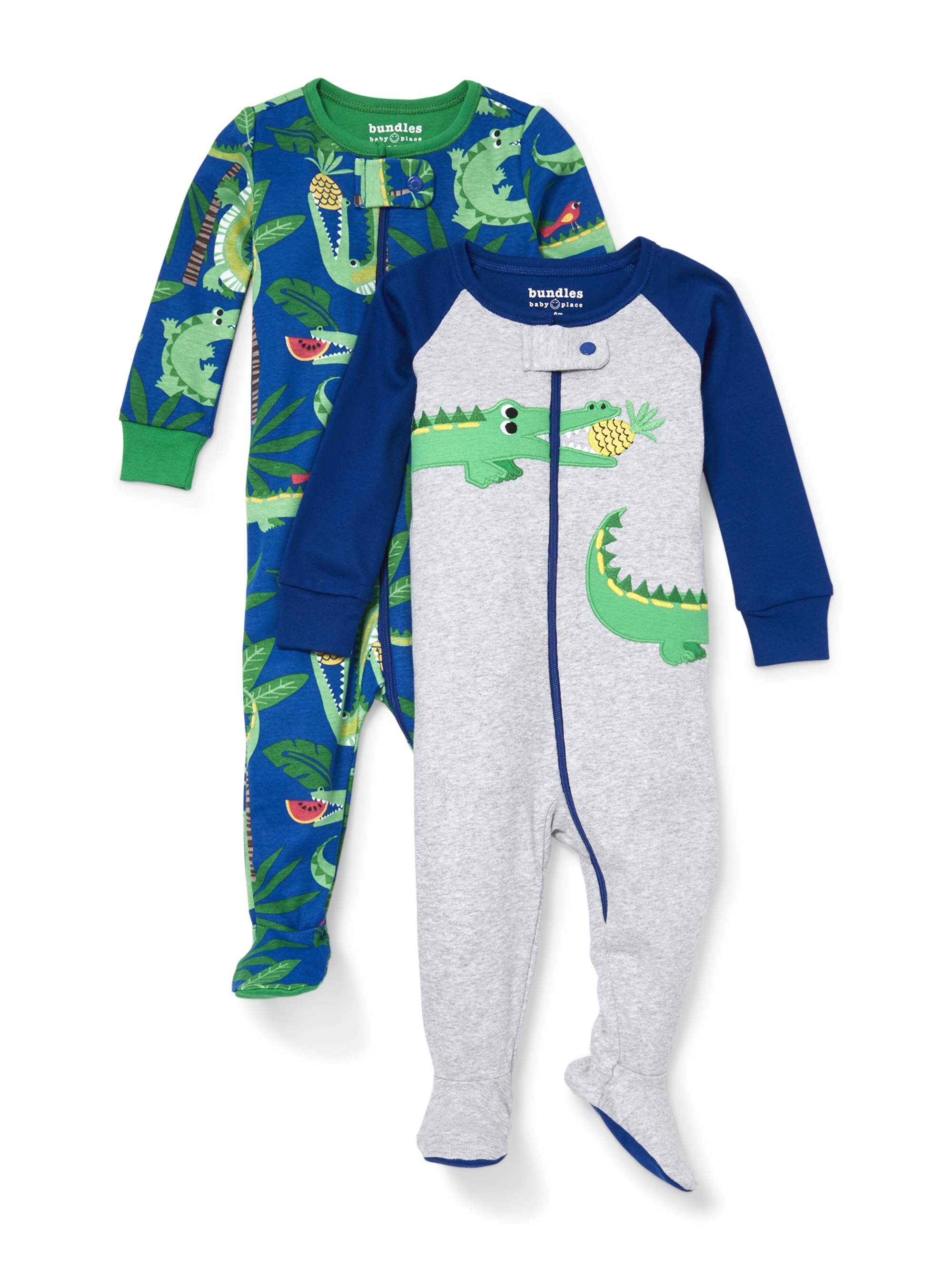 Long Sleeve Snug-Fit Footed Stretchie Pajamas, 2pk (Baby Boys & Toddler Boys)