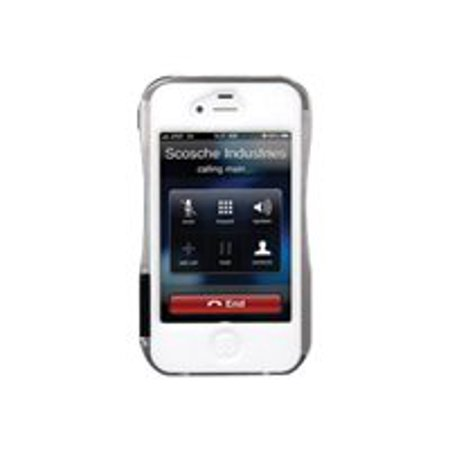 Scosche RAILkase - Case for cell phone - silicone, anodized aluminum - black, white, silver - for Apple iPhone 4, 4S